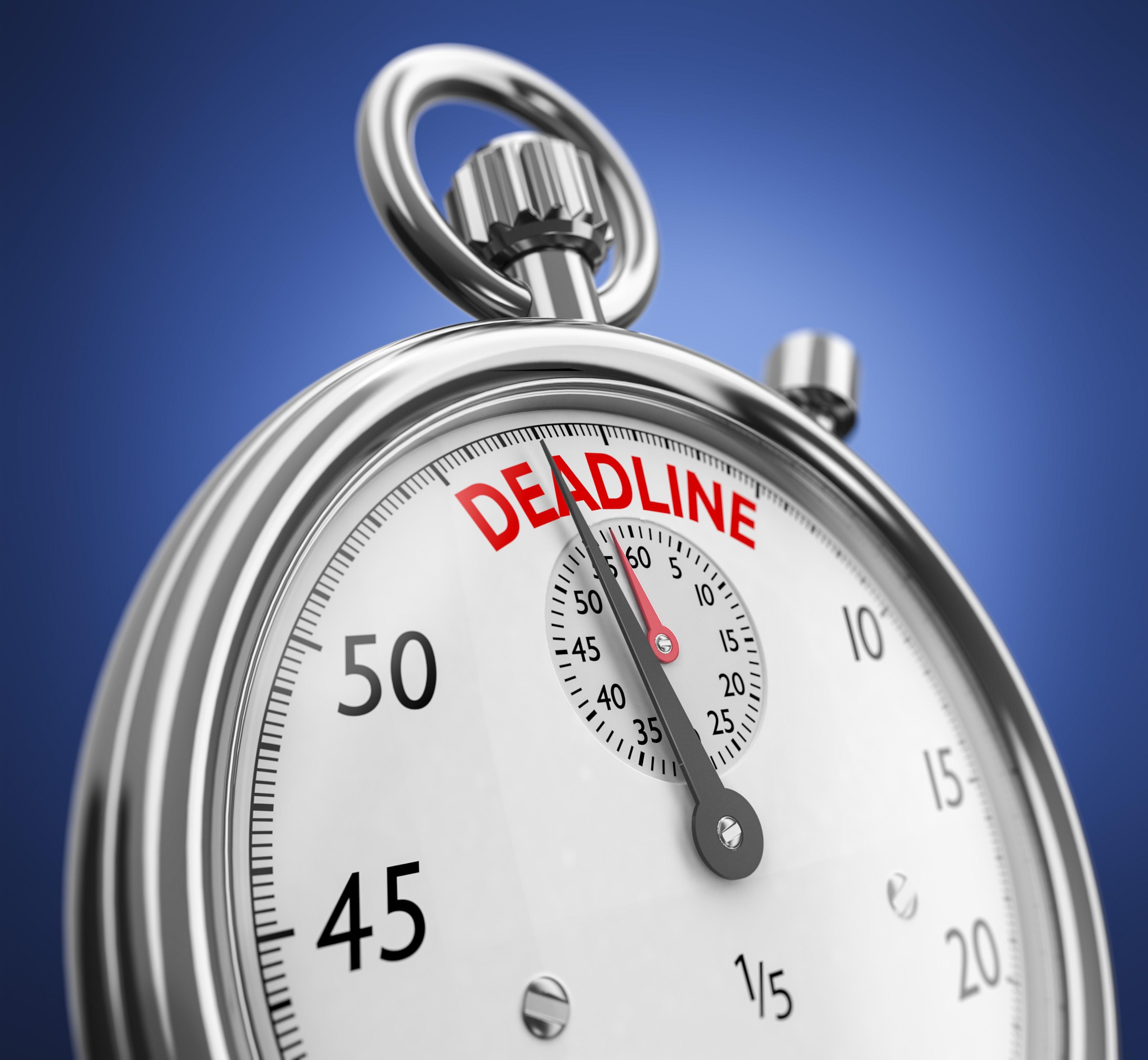Sponsor Proposal Deadline Updates